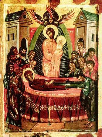 Adormirea Maicii Domnului, Patmos, secolul 15